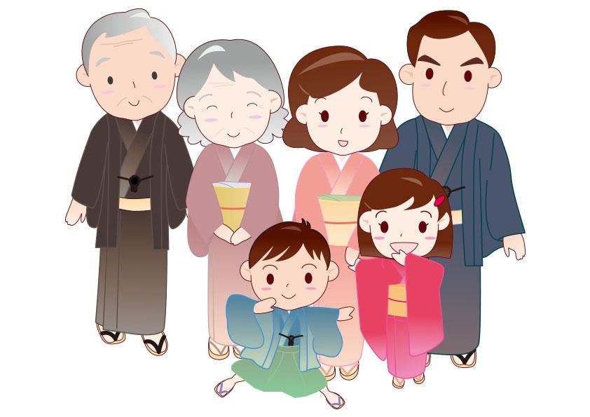 七五三 服装 祖父母