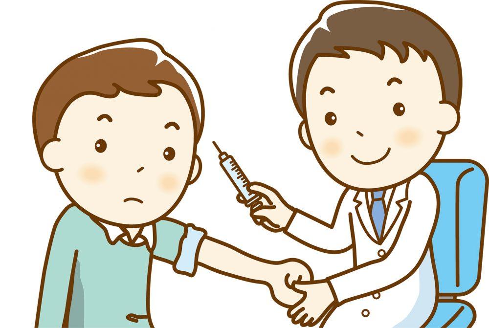 インフルエンザ 予防接種 熱発