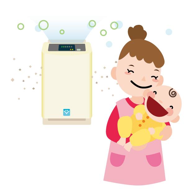 加湿器 空気清浄機 赤ちゃん